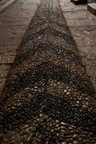 石头被铺的样式路 库存图片