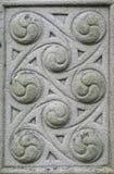 石头被雕刻的凯尔特设计 库存图片