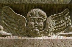 石头被雕刻的天使 库存图片