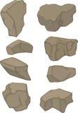 石头设置了动画片 免版税库存照片