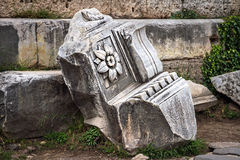 石头谎言在罗马 库存图片
