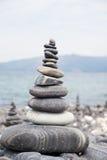 石头平衡  免版税库存图片