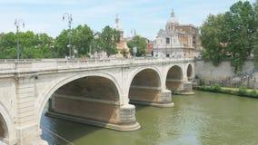 石birdge罗马,意大利, 4k 股票录像