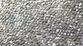 石Pebbled墙壁 库存照片
