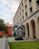石sclupture现代艺术设计墨西哥城宫殿 图库摄影