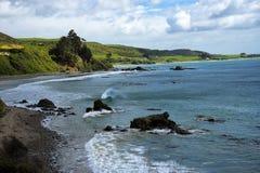 矿块点,南岛新西兰 免版税图库摄影