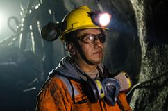 矿工在矿 免版税库存图片