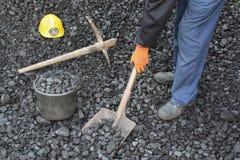 矿工工作 库存图片