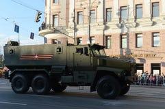矿抗性埋伏保护了(MRAP)装甲车台风U 库存照片