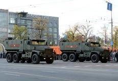 矿抗性埋伏保护了(MRAP)装甲车台风U 免版税图库摄影