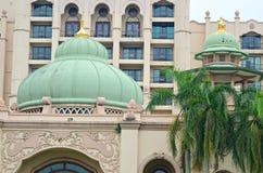 矿江边商业区的储蓄图象,马来西亚 免版税库存照片