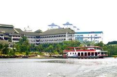 矿江边商业区,马来西亚 免版税库存照片