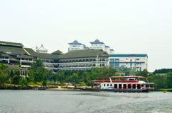 矿江边商业区,马来西亚 免版税图库摄影