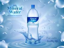 矿泉水广告构成 库存照片
