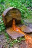 矿泉水春天BalbinÂ的春天- Marianske Lazne Marienbad -捷克 库存图片