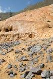矿泉水,乔治亚的水源与化石的 库存图片