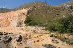 矿泉水,乔治亚的水源与化石的 图库摄影