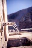 矿泉水春天喷泉 库存照片