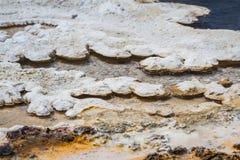 矿物形成在黄石 免版税库存图片