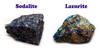 矿物方钠石 库存图片