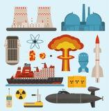 矿物燃料核原子能和可更新的能源生成电核能导航例证 基本 向量例证