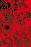 矿物的五颜六色,抽象样式在一台对立的微写器的 免版税库存图片