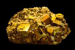 矿物硫铁矿或者白铁矿 免版税库存照片