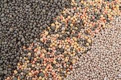 矿物肥料粒子 免版税库存图片