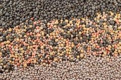 矿物肥料粒子 库存图片