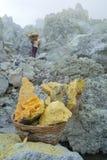 矿物采矿鸟瞰图  免版税库存图片