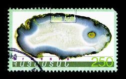 矿物,玛瑙,大约1998年 免版税库存照片