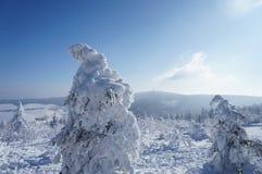 矿石山在冬天 免版税库存照片
