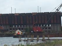 矿石船坞 免版税库存照片