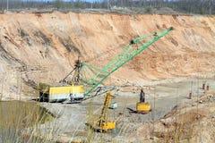 矿石采矿 图库摄影
