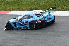 12矿石Hankook Mugello 2017年3月18日:#25 HTP Motorsport,默西迪丝AMG GT3 免版税库存图片