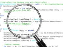 代码复核 免版税库存照片