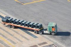 码头卡车 图库摄影