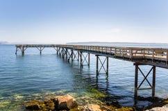 码头在一个晴朗的夏日 库存照片
