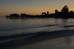 码头在圣克鲁斯 库存照片
