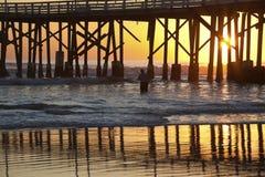 码头在Daytona Beach 库存图片