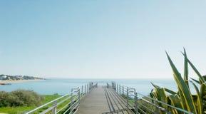 码头大阳台在Albufiera 1 库存图片