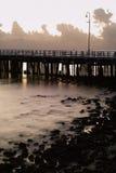 码头系列shorncliffe日出 库存照片