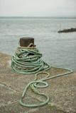 码头绳索 库存照片