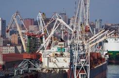 码头船 免版税库存照片