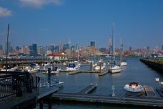 码头边视图 免版税库存照片