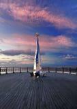 码头雕塑southport英国 免版税库存照片