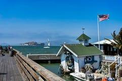 码头39渔夫` s码头在旧金山加利福尼亚团结了Sta 免版税库存图片