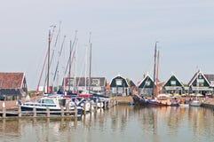 码头marken风船 库存图片