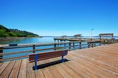 码头ruston塔科马江边方式 免版税图库摄影