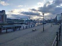 码头区泰恩河河 库存照片